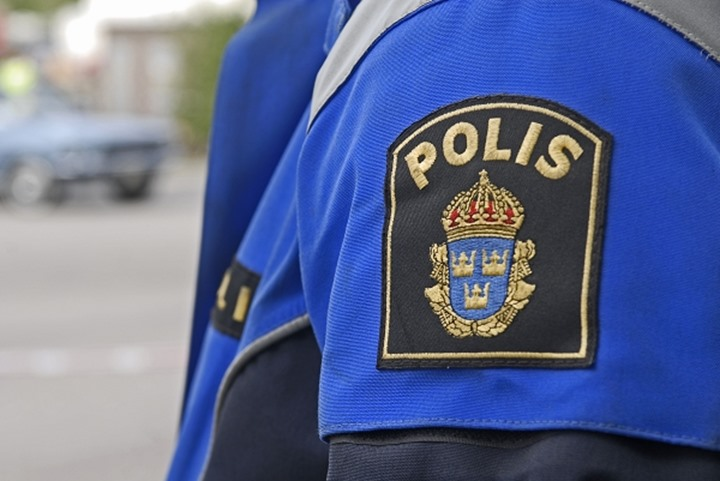 Sweden - Detail of police badge