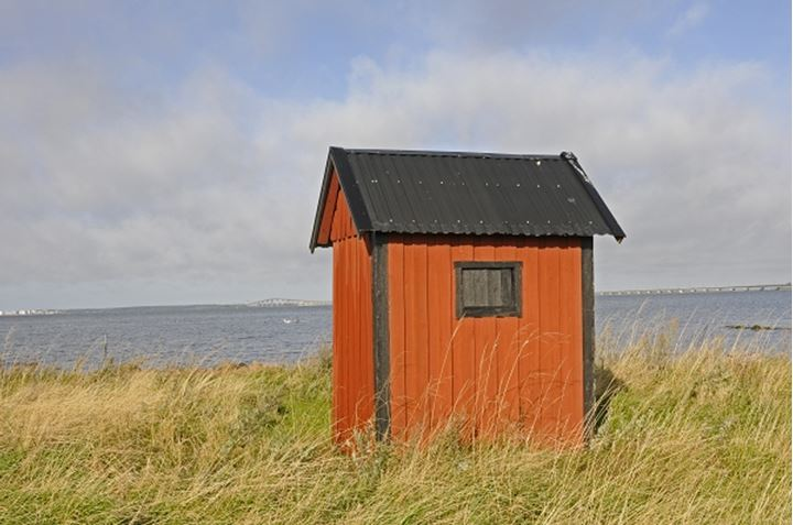 A small shed near the shore, Sweden.