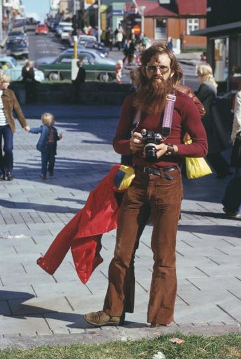 A hippy photographer with his camera