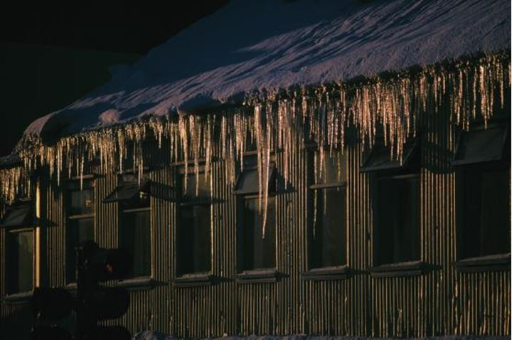 House covered with stalactites