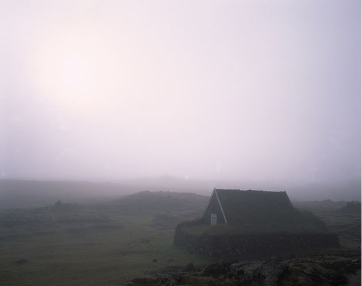 Iceland - Old turf house in a field