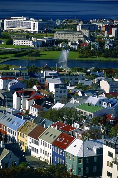 Looking over part of Reykjavik on sunny summerday