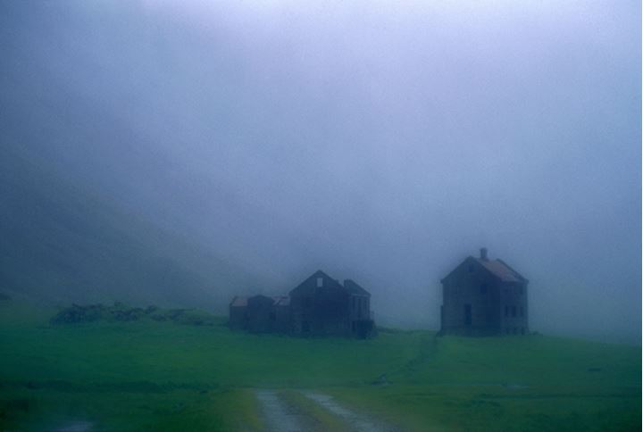 A deserted farm in Eystrahorn in the Eastfjords in Iceland