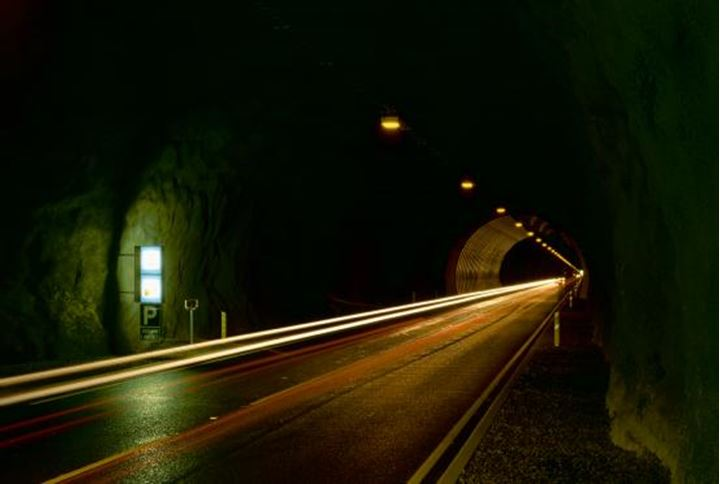 Inside of the tunnel that go under Hvlafjordur