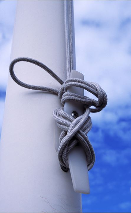 A string on a flagpole