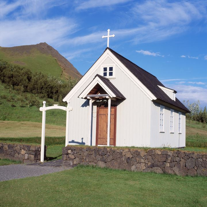 A little church in the countryside.