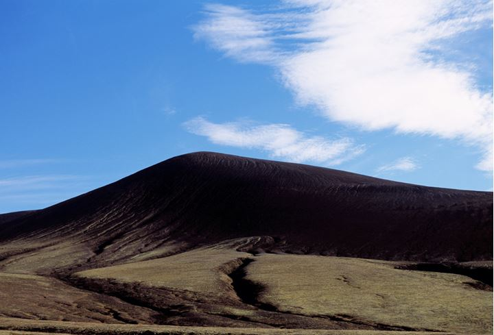 Mountain in the Geysir area at summertime.