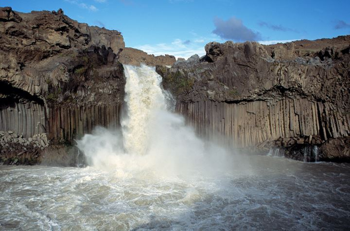A waterfall and some columnar basalt
