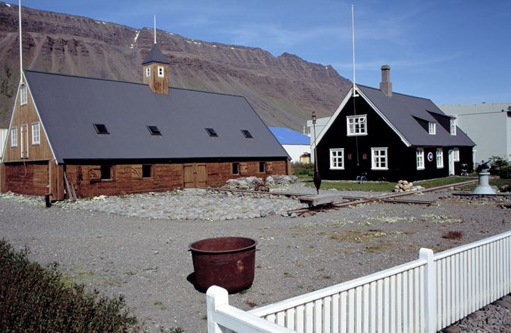 Old, renovated timber houses in Isafjordur