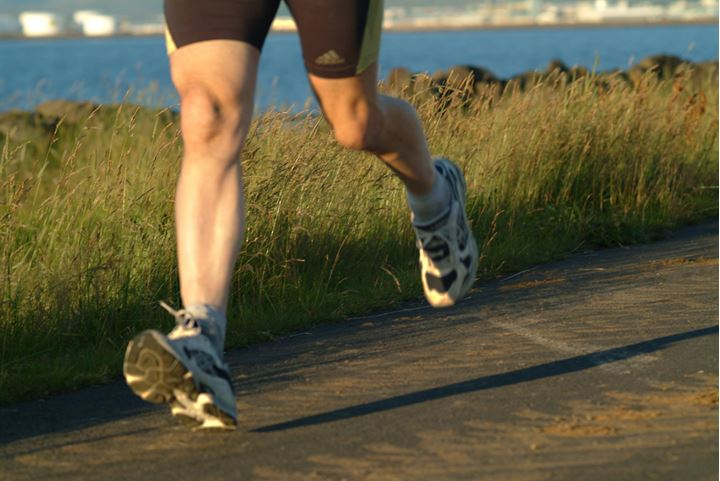 Legs of someone who is running