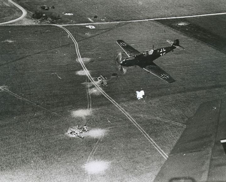 Fighter planes flying over coutryside
