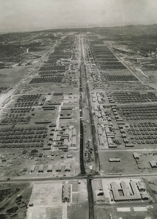 Airview of a military camp