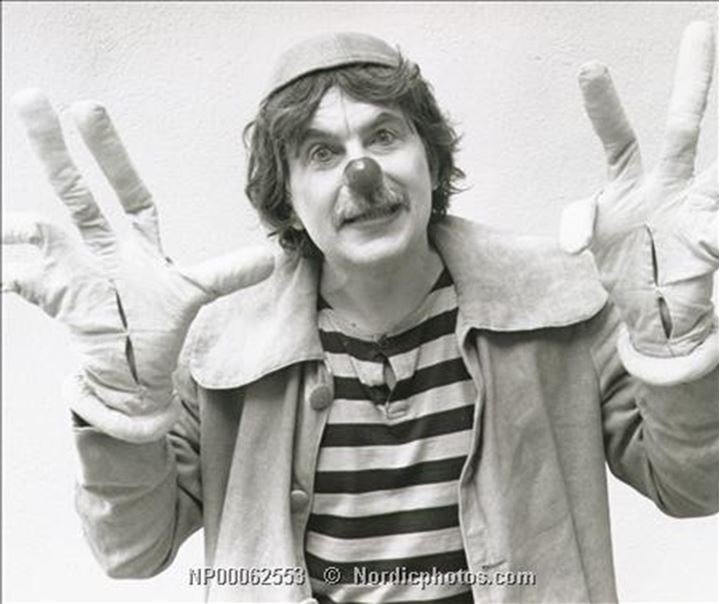 Staffan Westerberg wearing a clown costume