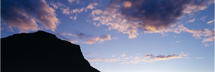 Silhouette of a mountain