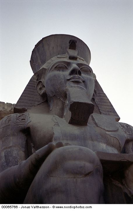 Ramses II at the temple of Luxor in Egypt