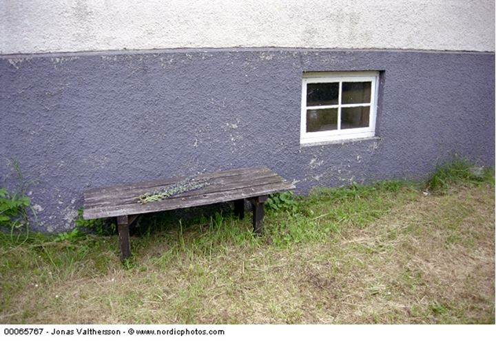 The bench by the housewall, Sweden