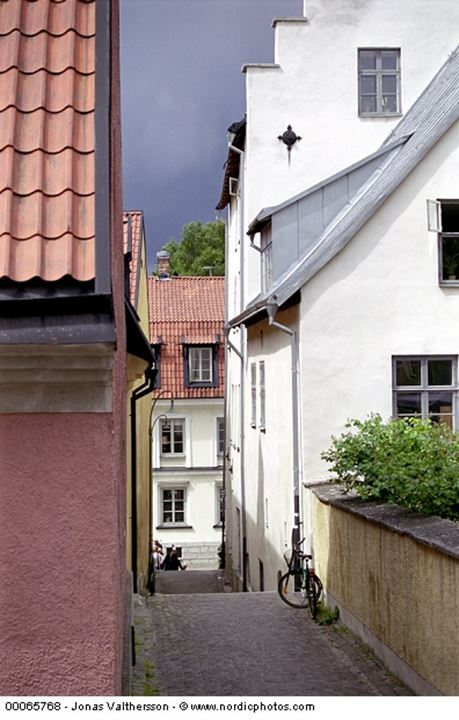 A narrow street in Visby