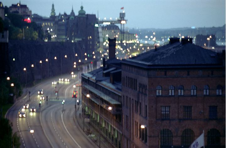 Looking down from Södermalm in Stockholm