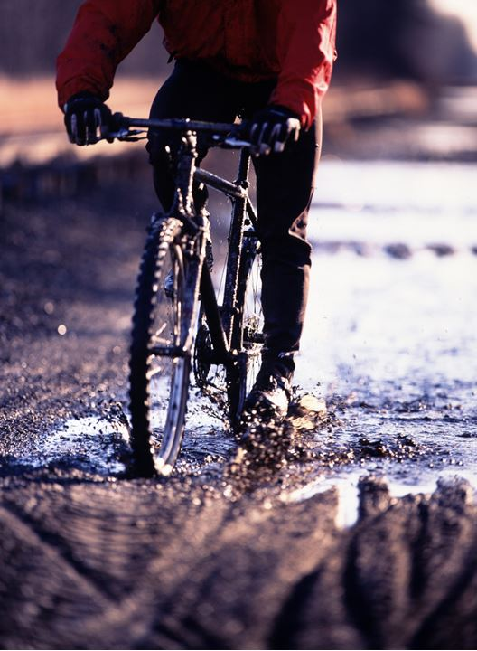 A bike in slush