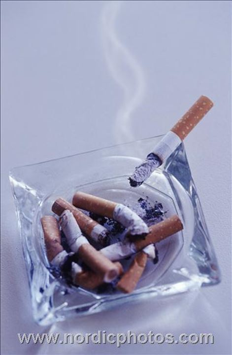 Cigaret on ashtray,Sweden