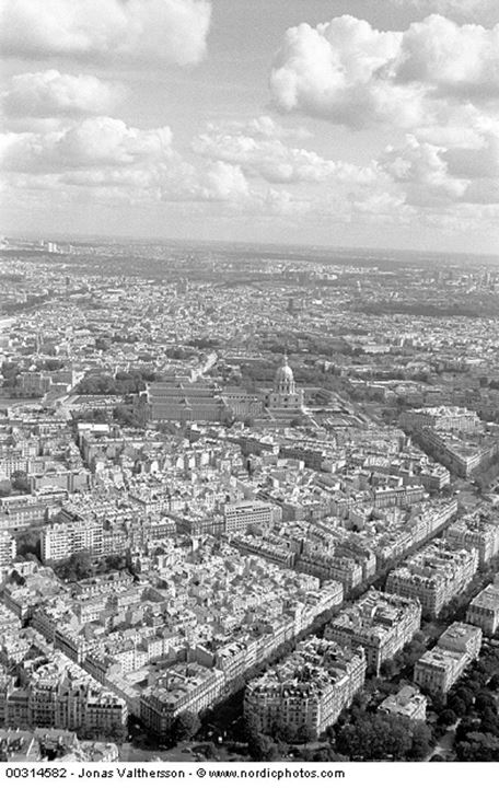 A view from the Eiffel Tower. Paris