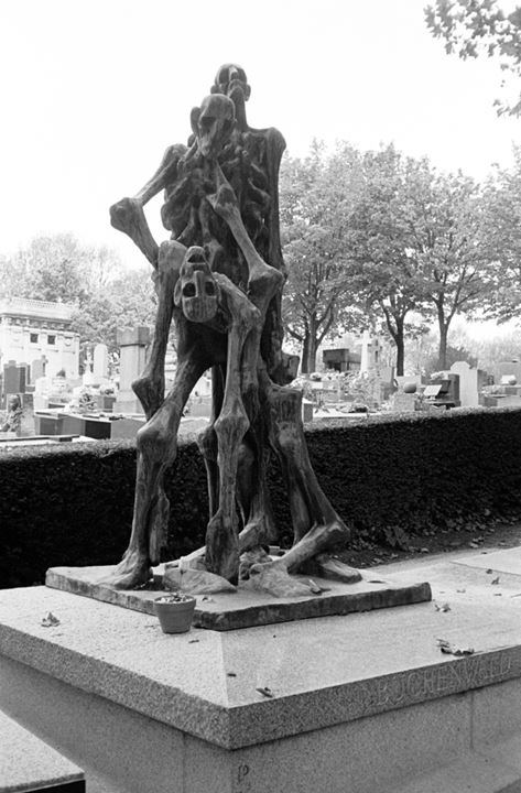 A monument over killed French in Buchenwald concentration camp during World War 2 - Pére Lachaise Paris