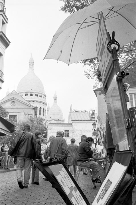 By the Sacré-Coeur Montmartre in Paris