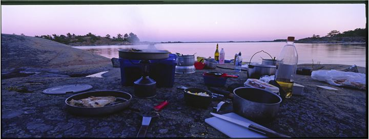 Cooking on a river side
