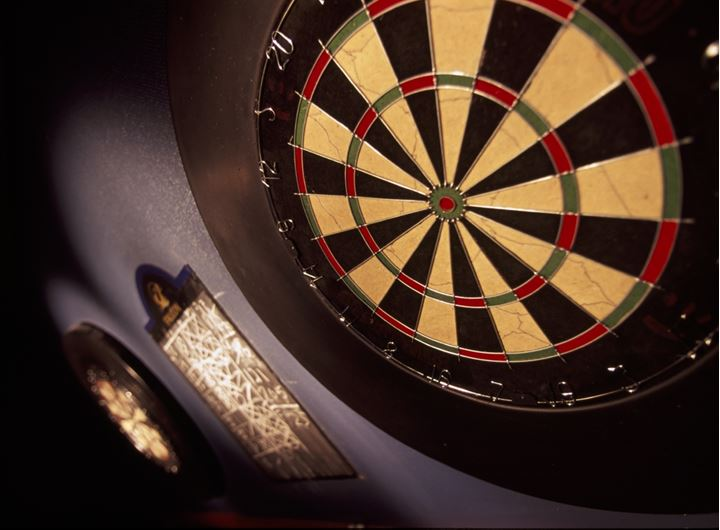 Two dart boards and the board for keeping the count
