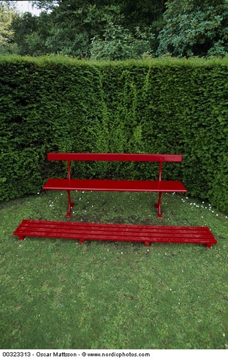 A bench and a footing piece