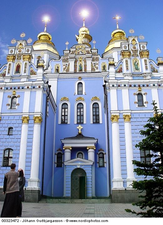 Blue church in Kiev,Ukraine