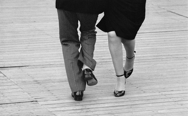 Couple dancing the tango, Stockholm, Sweden