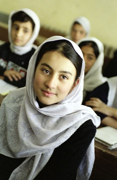 Portrait of a schoolgirl from Afghanistan