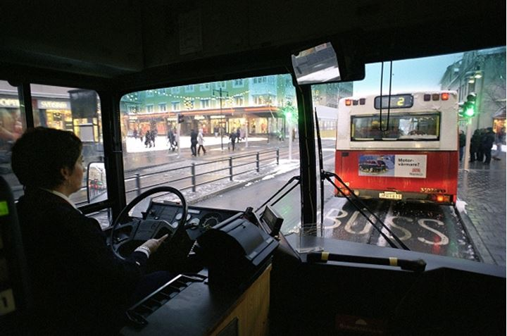 A bus driver in Stockholm