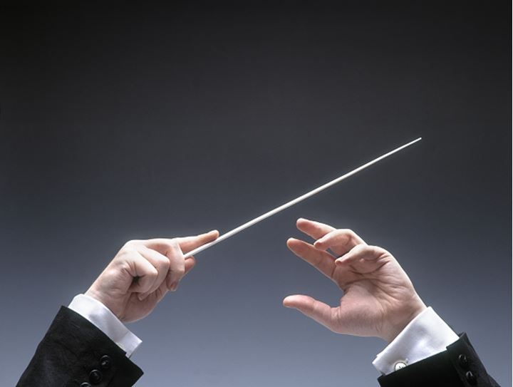 An orchestra conductor