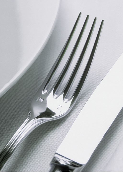 TABLE SETTING, FORK AND KNIFE.