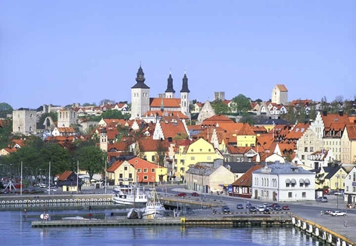 SWEDEN GOTLAND ISLAND MEDIEVAL HANSEATIC TOWN OF VISBY - BEST PRESERVED FORTIFIED TOWN IN NORTHERN EUROPE