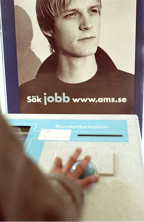 """Look for work at www.ams.se"""