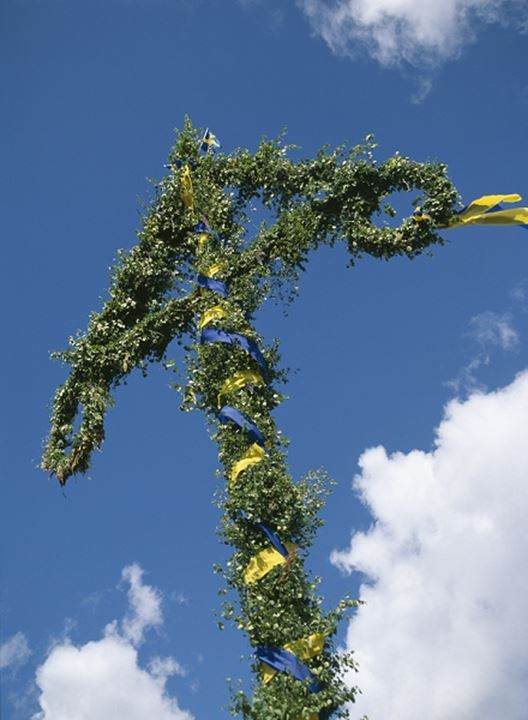 A Maypole at a midsummer festival in Sweden