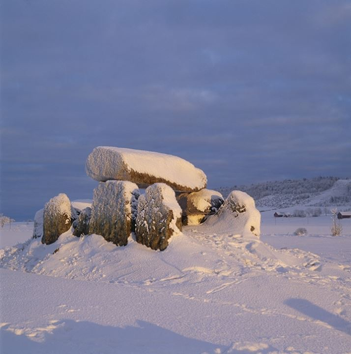 Sweden - Rocks covered with snow