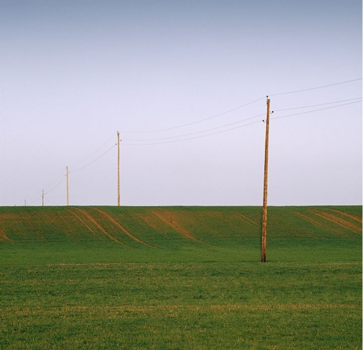 Electricity pylons in a Swedish countryside