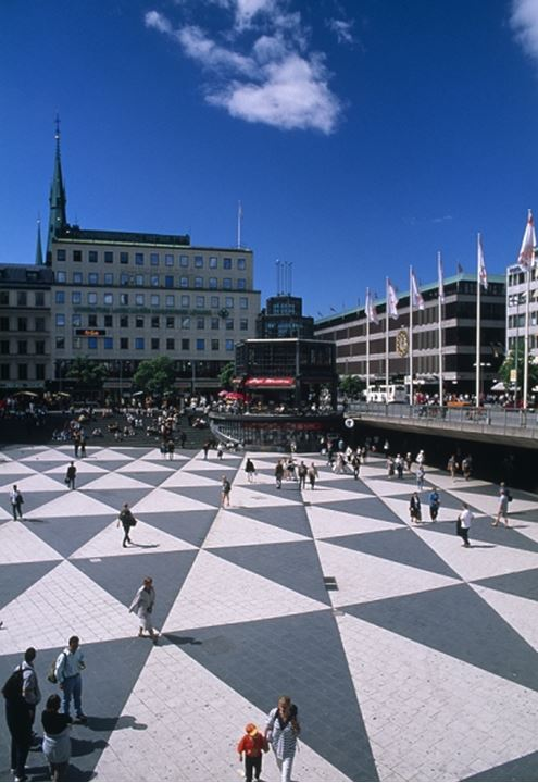 The Sergels Square in Stockholm, Sweden