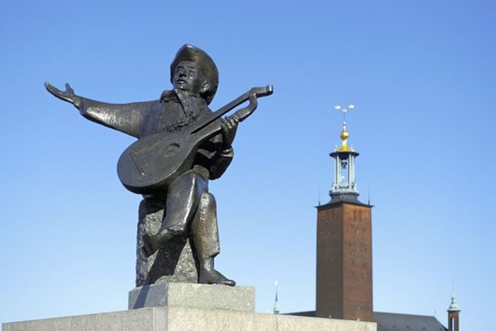 Monument to Evert Taube, Stockholm
