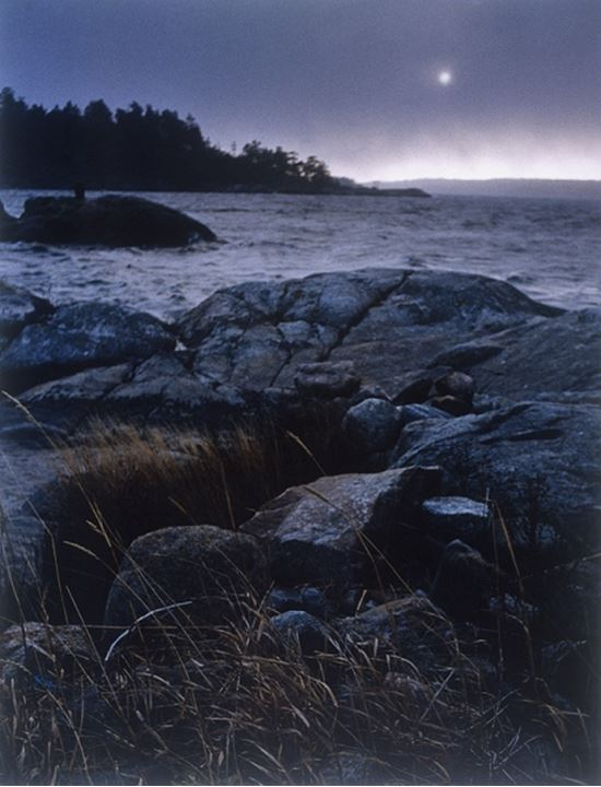 Bad weather, seaside, Sweden