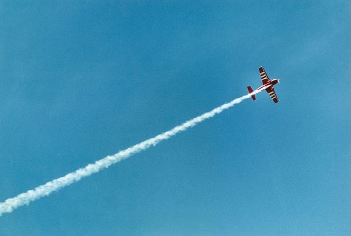 Low angle view of an aerobatic-airplane in fligh.t