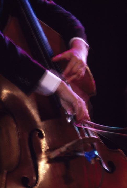 Close-up of a musician playing a cello