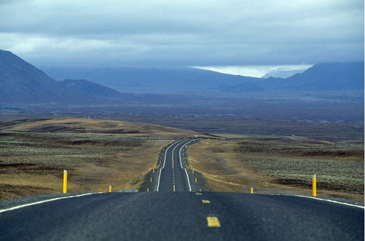 Road passing through a landscape, Iceland