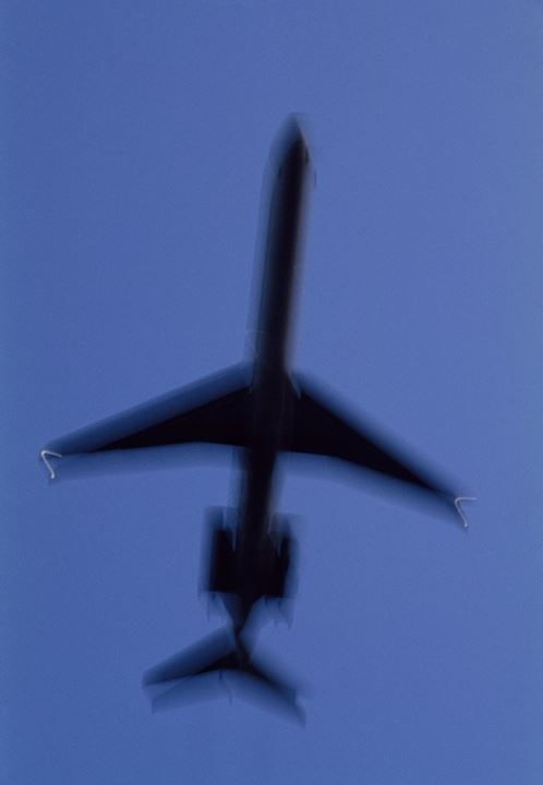 Low angle view of an airplane in flight