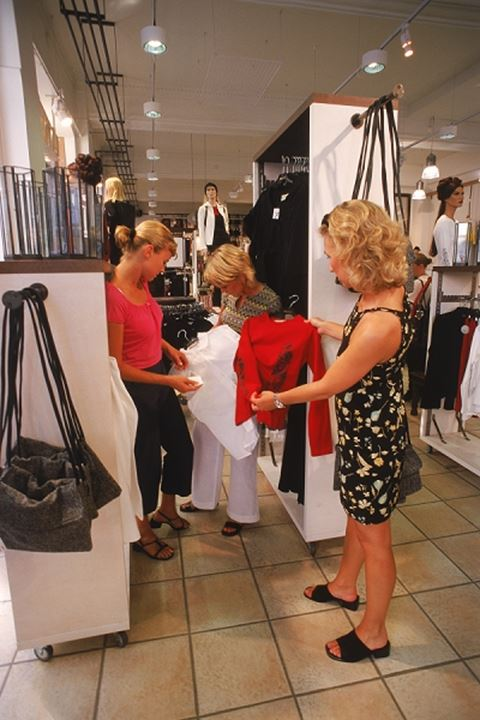 Three women shopping together in Stockholm