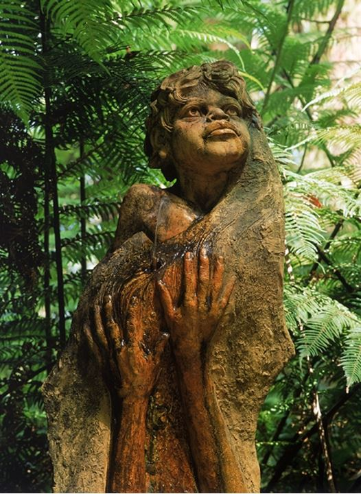 Aboriginal people sculpture at William Ricketts Sanctuary in Victoria Australia